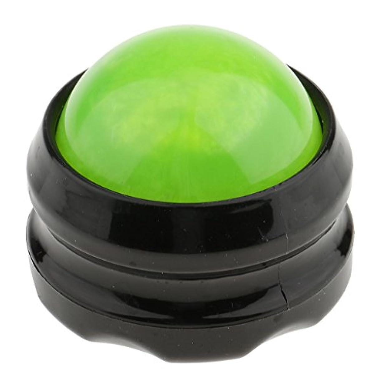 有効化アレンジむしゃむしゃchiwanji マッサージ ローラーボール ボディ セルフマッサージ 体 足 背中 首 ヒップ 痛み和らげ 全4色 - グリーンブラック