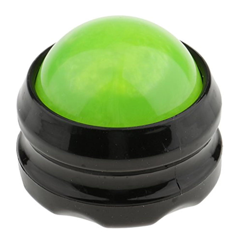 アナログ聴く一次chiwanji マッサージ ローラーボール ボディ セルフマッサージ 体 足 背中 首 ヒップ 痛み和らげ 全4色 - グリーンブラック