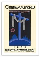 1930オーバーアマガウの受難劇 - バイエルン、ドイツ - ビンテージな宗教的なアート によって作成された リチャード・クライン c. 1930 - 美しいポスターアート