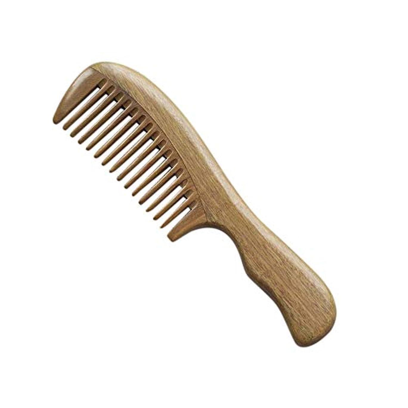 サンダル悲鳴恥ずかしさWASAIO 木製Detangleコームズ人の女性のヘアブラシくしセットパドルグリーンサンダルウッドワイド歯なしスタティック手作り