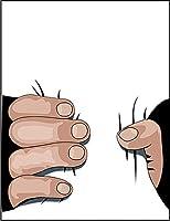 【FOX REPUBLIC】【だまし絵 ウエストを握る手】 白マット紙(フレーム無し)A3サイズ