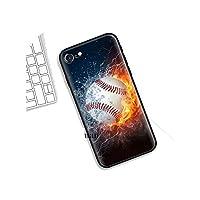 新しいトレンド ケースfor iphone X XS XR XSMax 7 8 6 6S 5C 5E 5S 5 Plus 8+ 7+ 6+ 6S + for iphone 11 Pro Max Shell Casos Fire Yellow Softball Baseball,for iphone 7,A002