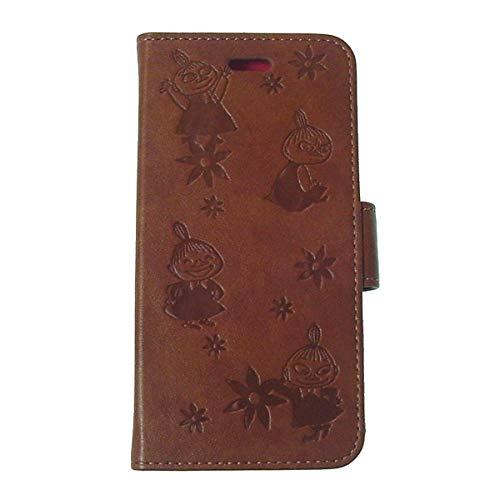 MOOMIN ムーミン - 2WAY 手帳型 ブック型 4.7インチ iPhone 8/7/6s/6 フリップ ケース #総柄リトルミイ〈ブラウン〉