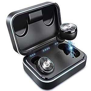 Bluetooth イヤホン 自動ペアリング 自動ON/OFF IPX6防水 完全ワイヤレス イヤホン 両耳 左右分離型 軽量 マイク付き タッチ式 Siri対応 ノイズキャンセリング&AAC対応 技適認証済 ブルートゥース イヤホン iPhone/iPad/Android対応