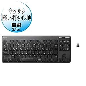 エレコム ワイヤレスキーボード 薄型メンブレン コンパクトサイズ ブラック TK-FDM109TXBK