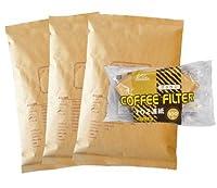 カリタ102コーヒーフィルター 2~4人用 100枚入り ブレンドNo.2/中深煎り 1.5kg 150杯~210杯 [粗挽き] コーヒー豆/中深入り