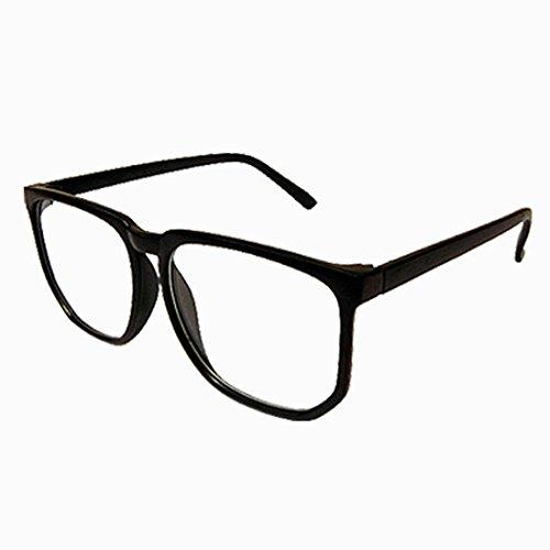 HSEC-8050002 ダテメガネ アラレ型 6Color マルチデザイン ビックフレーム レンズあり (ブラック)