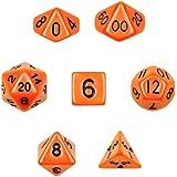 シリーズI Wiz Dice Set Of 7 Opaque Polyhedral Dice inベルベットポーチ