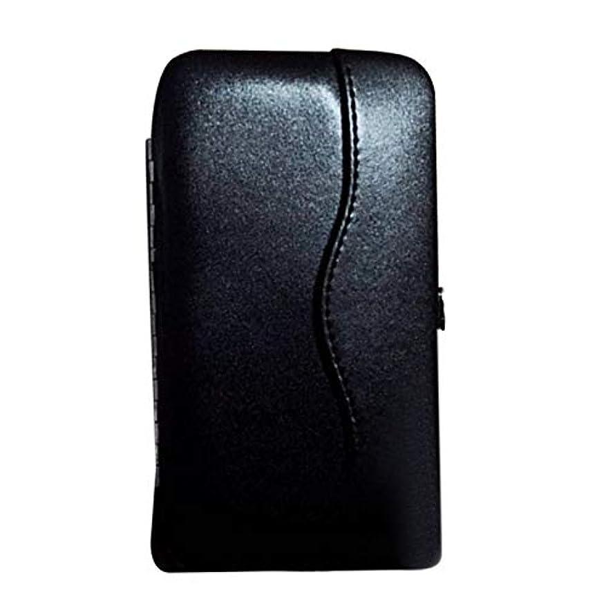 子音物質流すwijaso まつげエクステンションピンセットポータブルツールバッグ用の信頼性の高い美しい新プロメークアップツールストレージボックス(None BK)