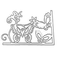 YANGYL 漫画蝶切削ダイエンボスステンシルテンプレート型紙diyアートクラフトブックカードの装飾