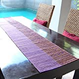 【アジア工房】ウォーターヒヤシンスで出来た編み目がオシャレなテーブルランナー[パープル][10839] [並行輸入品]