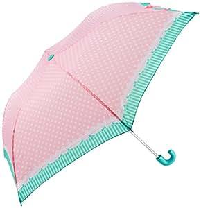 シェイルシェイル 子供用 折りたたみ傘 ガーリー ドット 全2色 手開き ピンク 6本骨 55cm 120〜140cm 60701
