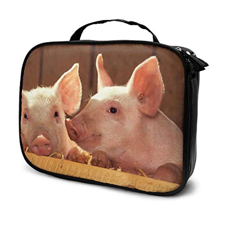 染色ハンサム受動的Pigs Love 化粧ポーチ 化粧ケース メイクアップケース コスメポーチ メイクポーチ 機能的 大容量 乾式/湿式分離 吊り下げ 防水 収納力抜群 海外旅行 出張 軽量 メイク コスメ 普段使い 持ち運び おしゃれ メンズ レディース 男女兼用