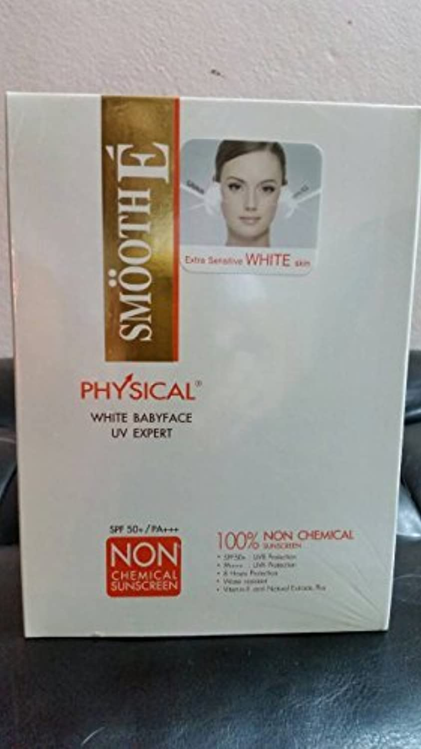 40g Smooth-E Physical White natural Sunscreen SPF 52 PA+++ UVA+UVB Whitening sun wrinkle control cream by Smooth E [並行輸入品]