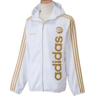 (アディダス)adidas BL トラックフーデッドジャケット CA832 Z46910 ホワイト×メタリックゴールド S