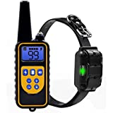 Dog Training Collar Waterproof Rechargeable Remote Control Pet with LCD Display for All Size Bark-stop Collars 0~99 Electric Shock Levels