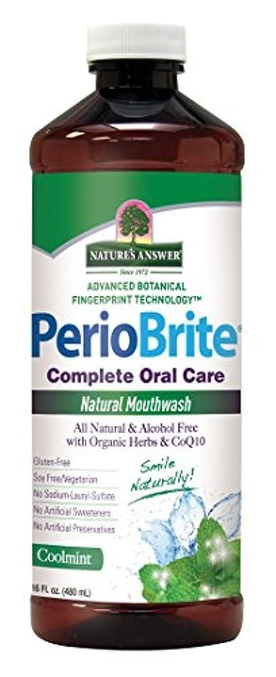 没頭する不愉快積極的にNature's Answer Periowash Mouthwash, 475 ml (並行輸入品)