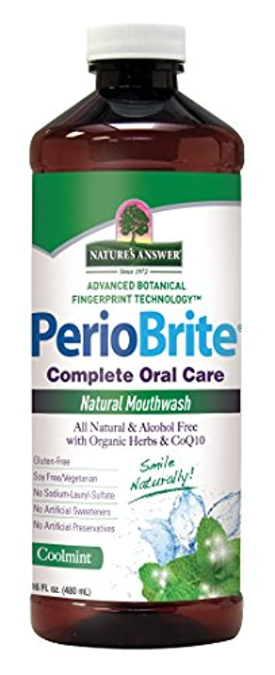 伝染性のケーブル取り戻すNature's Answer Periowash Mouthwash, 475 ml (並行輸入品)
