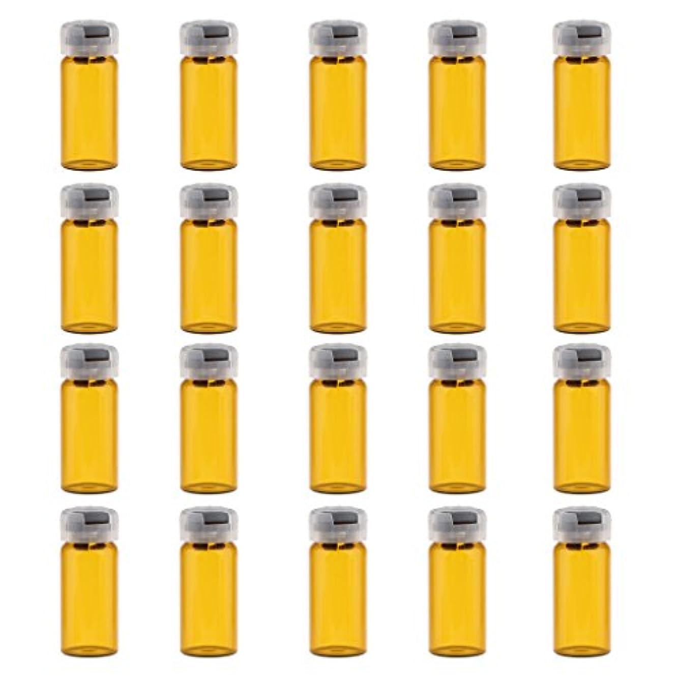 非行取り囲む配当CUTICATE 空ボトル ガラスボトル 密封 滅菌 バイアル 便利 美容院 自宅用 約20個 3サイズ - 10ml