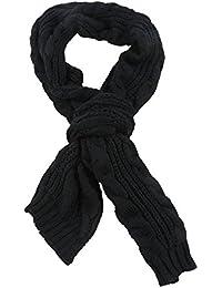 Seliyi 飾り物 女性用黒いプリーツスカーフ
