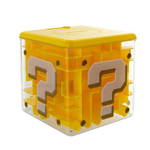 任天堂 スーパーマリオブラザース クエスチョンブロック型 迷路ロック付貯金箱