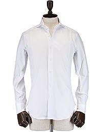 ROBERTO MAULICIO DA SWEEP!! メンズ ロイヤルオックスフォード ワイドカラードレスシャツ Royal Oxford (ホワイト)