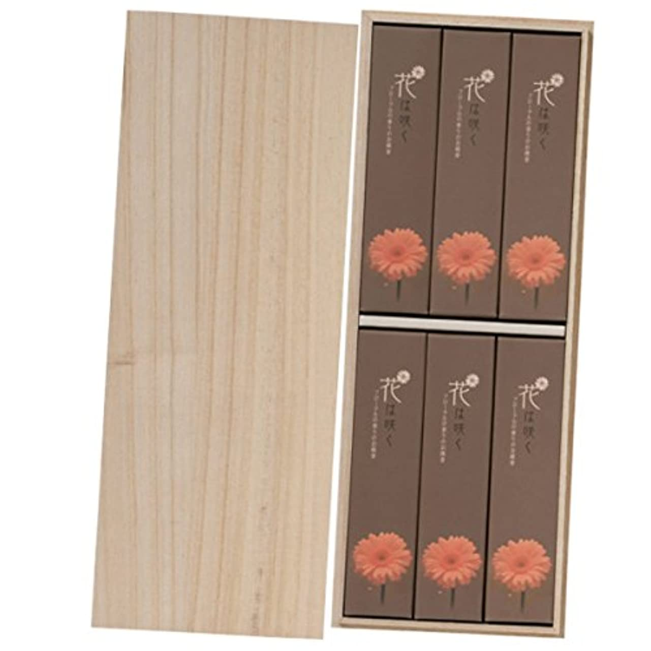 上陸ラップトップシェルター花は咲く(進物用桐箱入) 約30g×6箱