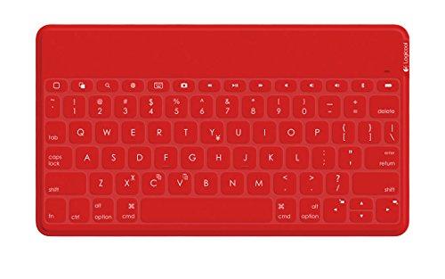 ロジクール ウルトラポータブル キーボード for iPad, iPhone レッド iK1041RDA