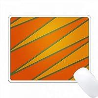 オレンジ、ティール、イエロー、ジグザグ PC Mouse Pad パソコン マウスパッド