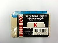 "kleer-fax "" A - Z ""インデックスカードガイド、印刷済みインデックス1/ 3cut-blue 5x 3"