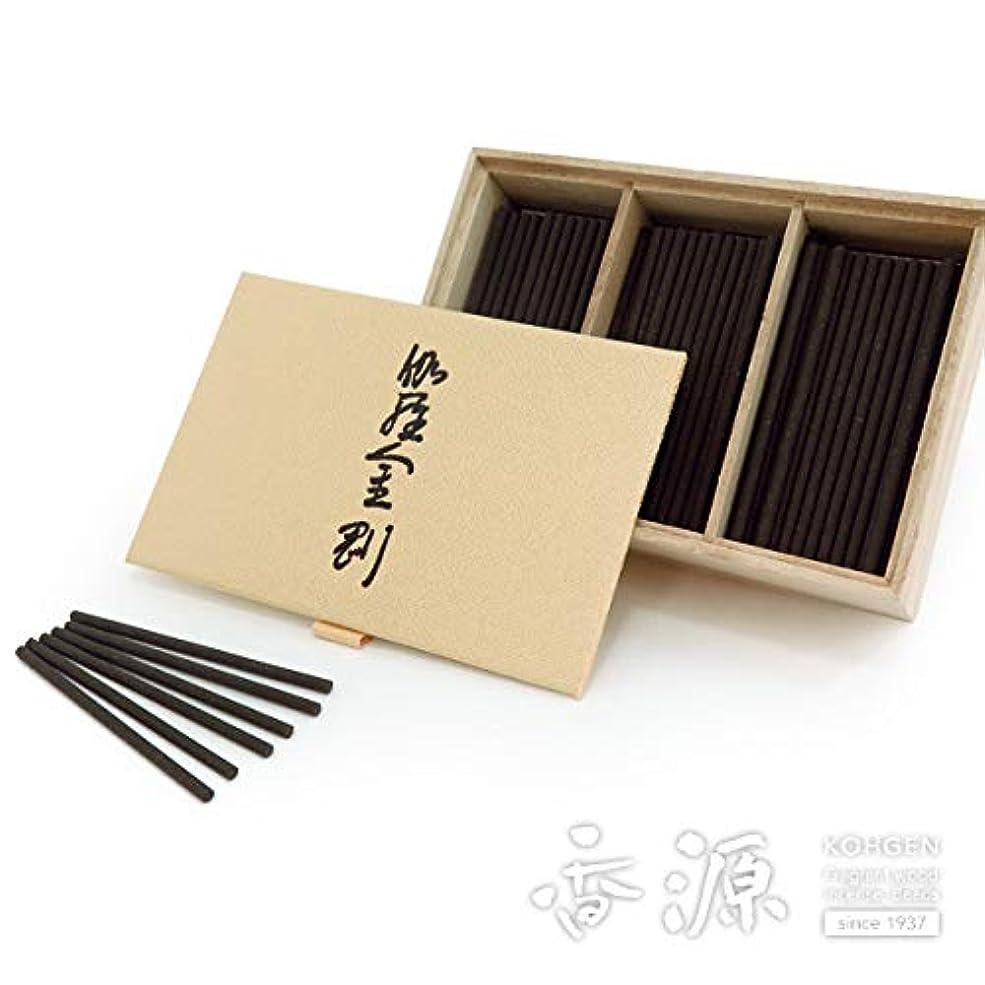 降臨湾水を飲む日本香堂のお香 伽羅金剛 スティックミニ寸お徳用 150本入り
