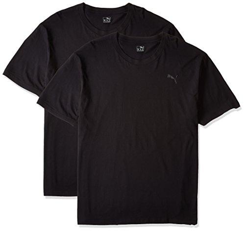 (プーマ)PUMA 大きいサイズ 2P 抗菌防臭半袖Tシャツ 1011495213  02 ブラック L