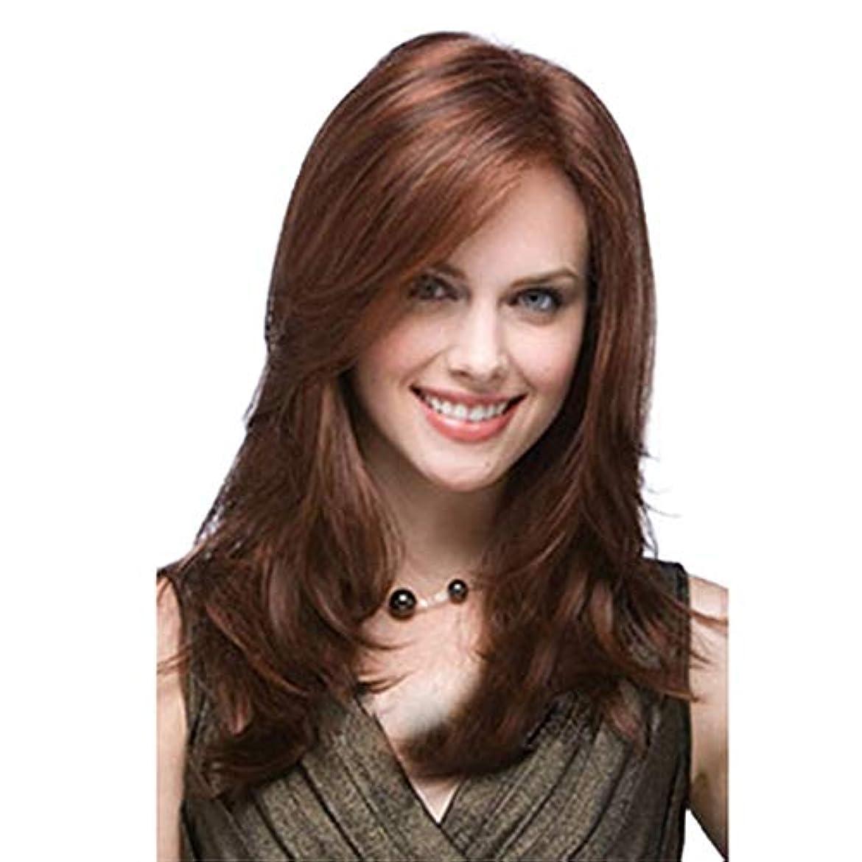 集中自己尊重スイッチ毎日のための長い波状の合成レースフロントウィッグ耐熱完全な頭部の髪の交換ウィッグ着用や実毛髪のようコスチュームウィッグナチュラル