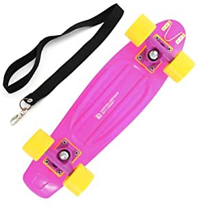 DOPPELGANGER(ドッペルギャンガー) アウトドア アウトドアスケートボード SB1-77 マルチユースフック/キャリングロープ 付属 [ABEC5ベアリング採用]