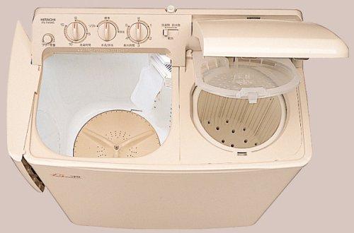 HITACHI 青空 2槽式洗濯機 パインベージュ PS-H4...