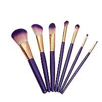 化粧ブラシ基本化粧ブラシ繊維6組化粧ブラシ(ピンク化粧品袋)