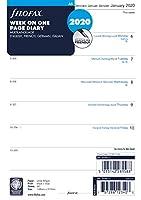 ファイロファックス システム手帳 リフィル 2020年 1月始まり A5 ウィークリー ホワイト 20-68517 正規輸入品