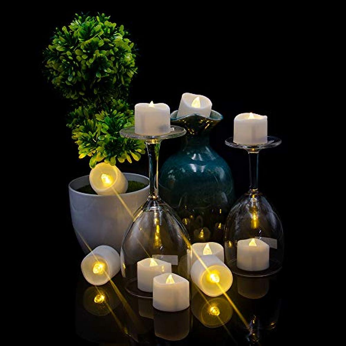 冷ややかなで出来ているデコードするLEDキャンドルライト Helian 癒しの灯り クリスマス/パーティー/結婚式/誕生日用 室内 室外飾り 暖色光 5時間連続輝く タイマー機能 (12個セット)