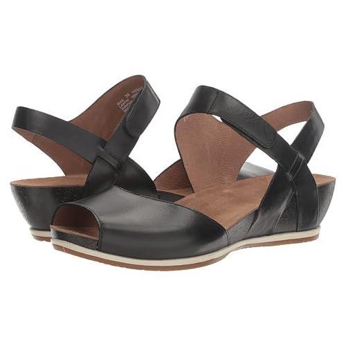 (ダンスコ)Dansko レディースサンダル・靴 Vera Black Burnished US Women's 7.5-8 24-24.5cm Regular [並行輸入品]