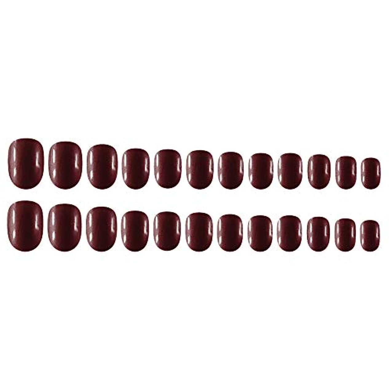 膨らみ普及トランスペアレントDecdeal Decdeal ネイルチップ 24ピース 12異なるサイズ diy サロン ネイルアートツール 偽