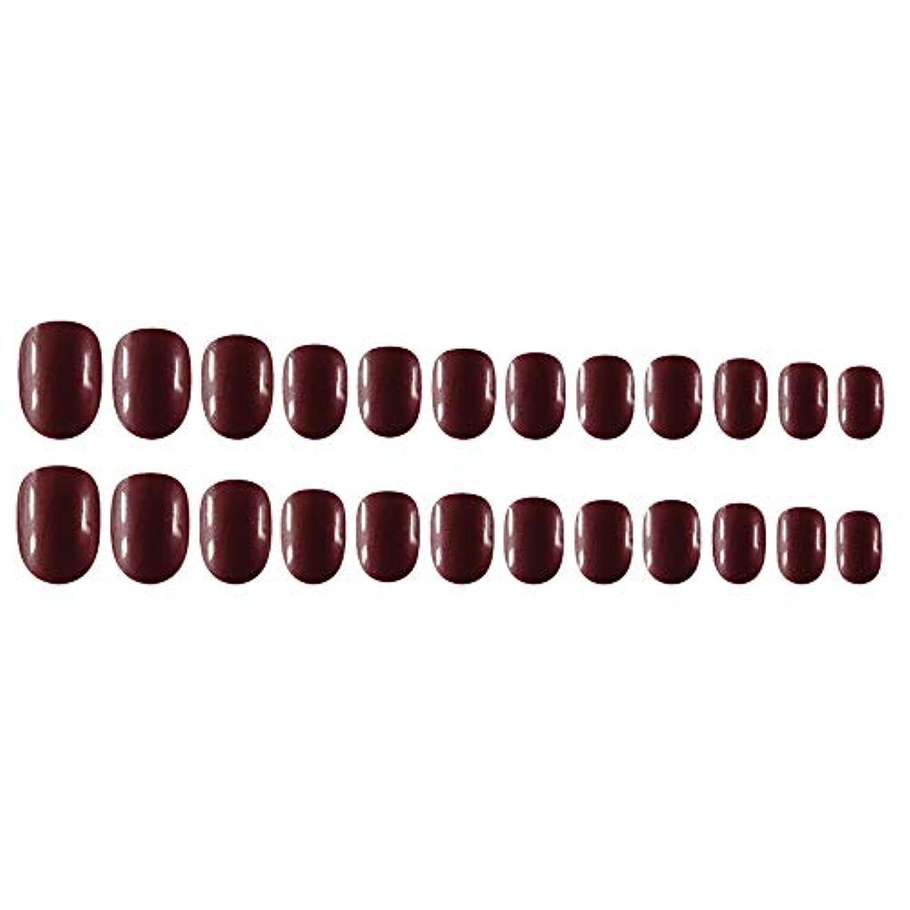 嘆願したがってトロピカルDecdeal Decdeal ネイルチップ 24ピース 12異なるサイズ diy サロン ネイルアートツール 偽