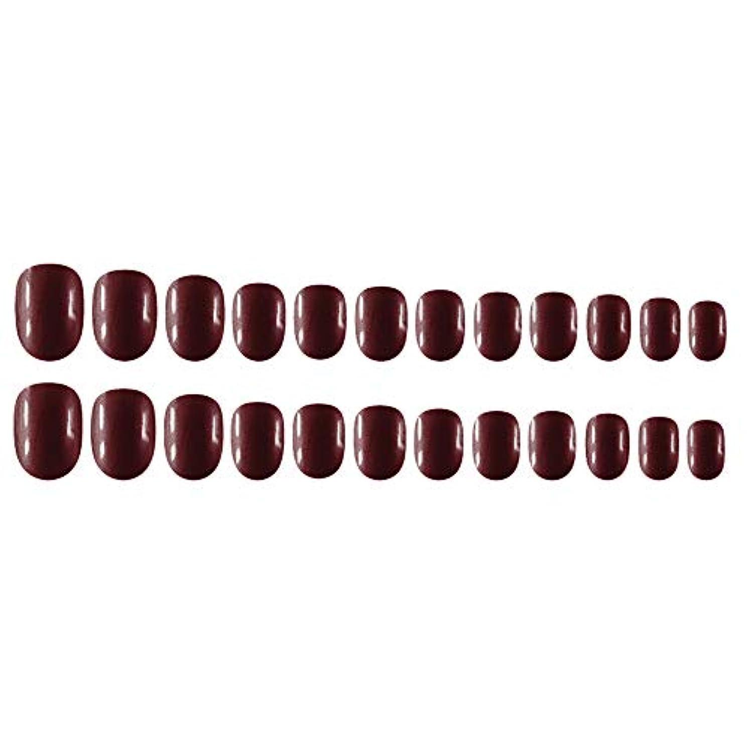 取り替えるパンチに話すDecdeal Decdeal ネイルチップ 24ピース 12異なるサイズ diy サロン ネイルアートツール 偽