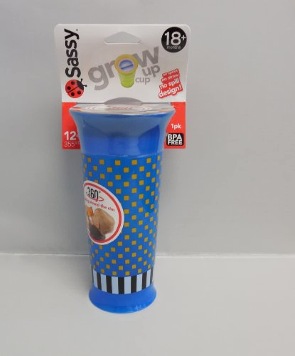 Sassy Grow Up Cup No Spout, No Spill Design 12 oz - 18 Months by Sassy