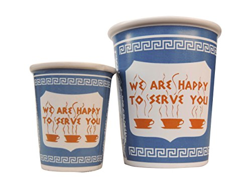 Exceptionlab We are Happy to Serve You Espresso Cup, 3-Ounce, Blue by Exceptionlab Inc