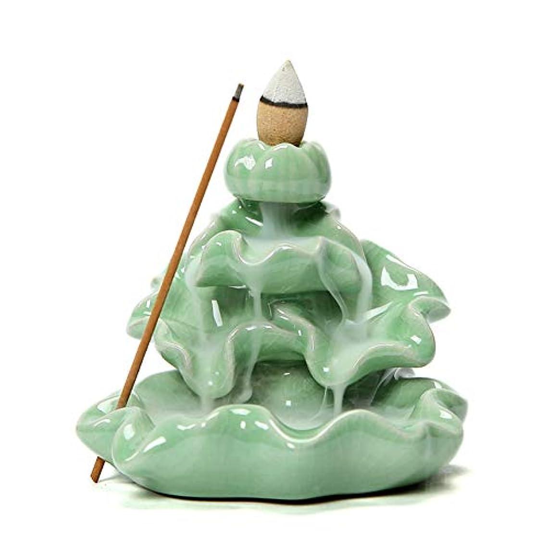 フラフープ下手性格BERTERI 逆流香炉 ホームインテリア アイスクラック セラミック スティック お香ホルダー 仏教 アロマセラピー 香炉