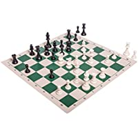Regulation Tournament Chess Pieces and Chess Board Combo - TRIPLE WEIGHTED by