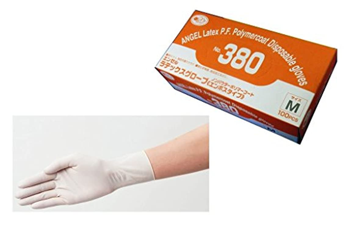 エール治療尽きるサンフラワー No.380 ラテックスグローブ ノンパウダー ポリマーコート 100枚入り (M)