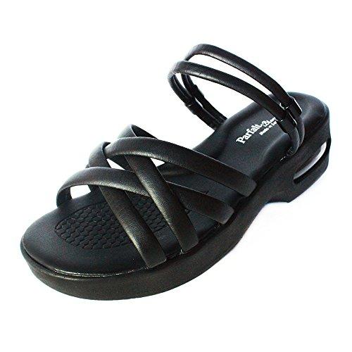 [해외]멀티 에어 솔 간호사 샌들 블랙 Blanc Ange 에어 쿠션으로 편안한 예쁜 각선미 여성 사무실 샌들 블랙/Multi-aerosol nurse sandal black Blanc Ange Comfortable with air cushion Legs Ladies office sandals Black