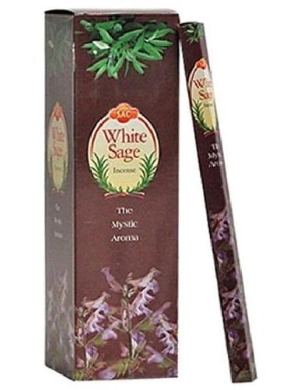 メンバーより平らな広いJBJ Sac White Sage Incense, 120-Sticks by JBJ [並行輸入品]