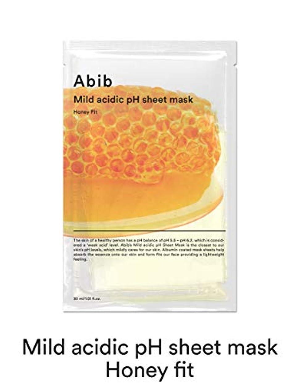 偶然の火山のパーセント[Abib] アビブ弱酸性pHシートマスクハニーフィット 30mlx10枚 / ABIB MILD ACIDIC pH SHEET MASK HONEY FIT 30mlx10EA [並行輸入品]